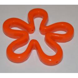 Fleur évidée 45 mm orange