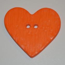 Coeur résine 4 x 3 cm orange
