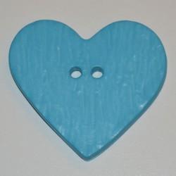 Coeur résine 4 x 3 cm turquoise