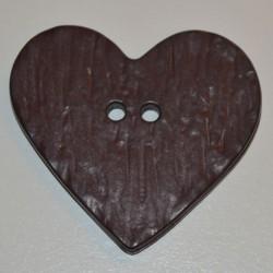 Coeur résine 4 x 3 cm brun