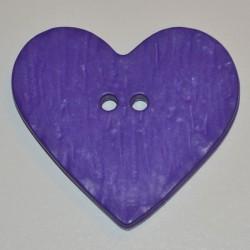 Coeur résine 4 x 3 cm violet