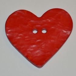 Coeur résine 4 x 3 cm rouge