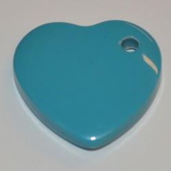 Coeur acryl 25 mm turquoise