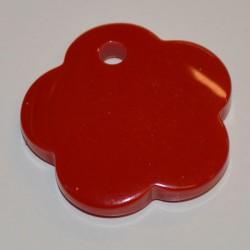 Fleur acryl 25 mm rouge