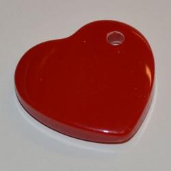 Coeur acryl 25 mm rouge