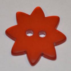 Etoile résine 25 mm orange