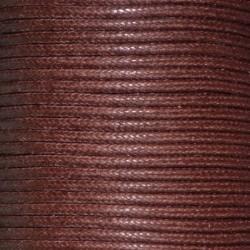 Coton ciré 1.5 mm brun