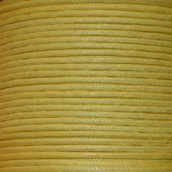 Coton ciré 1.5 mm janue citron