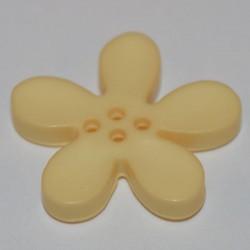 Fleur résine 3 cm vanille