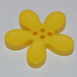 Fleur résine 3 cm jaune
