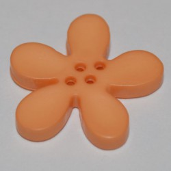 Fleur résine 3 cm saumon clair