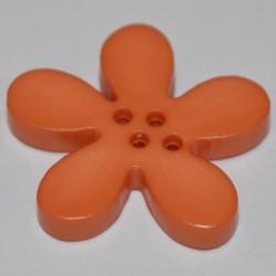 Fleur résine 3 cm saumon foncé