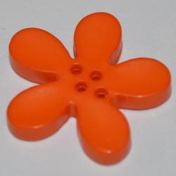 Fleur résine 3 cm orange
