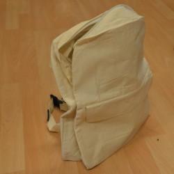 Sac à dos en coton nature 40 x 30 x 15 cm