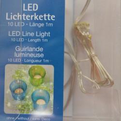 Guirlande lumineuse 10 micro LED à piles AA