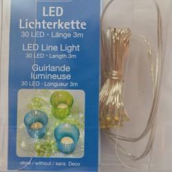 Guirlande lumineuse 30 micro LED à piles AA