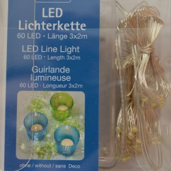 Guirlande lumineuse 60 micro LED à piles AA