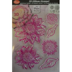 Tampon silicone 3D Flower Amelia