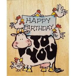 Tampon Happy birthday 102 x...