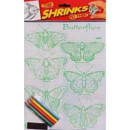 Plastique fou A4 Papillons