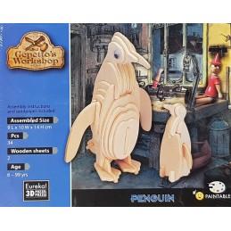 Puzzle 3D Pingouin 9x10x14cm
