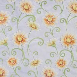 Tissu décoratif Marguerites...