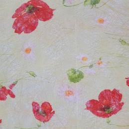 Tissu décoratif Coquelicots...