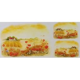 Papier de riz 50 x 23 cm Eté