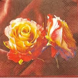Serviette Rose bordeaux