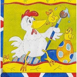 Serviette Poulette de Pâques