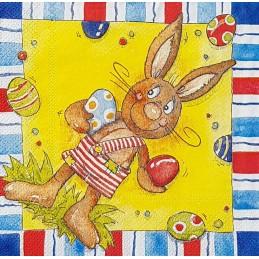 Serviette Lapin de Pâques