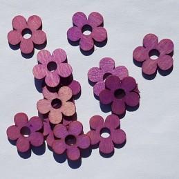 Fleurs lilas en bois 2 cm,...