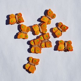 Papillons oranges en bois 2...