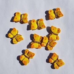 Papillons jaunes en bois 2...