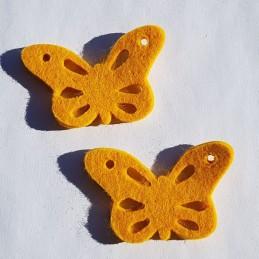 Papillons feutrine jaune...