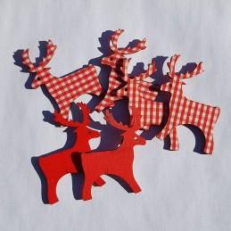 Renne rouge à carreaux 4 x...