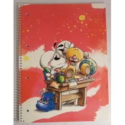 Cahier A4 à carreaux