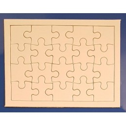 Puzzle blanc en carton 20...
