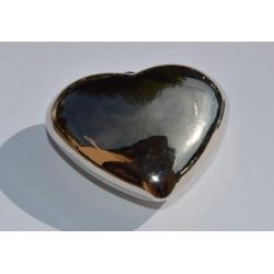 Coeur argenté lisse 50 mm