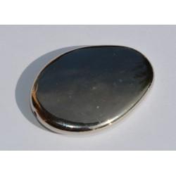 Ovale argenté lisse 40 x 25 mm
