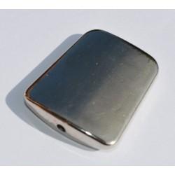 Trapèze argenté lisse 30x25 mm