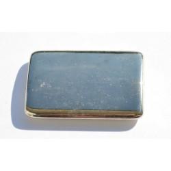 Rectangle argenté lisse 35x25 mm