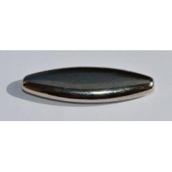 Fuseau argenté lisse 40x10 mm