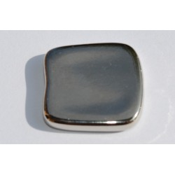 Carré argenté lisse 20 mm